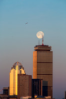 Moonset over The Pru. Prudential Tower, Boston, Massachusetts