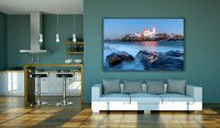 Large Format Borderless Print on Metal with Inset Floating Frame - Cape Neddick. Nubble Lighthouse. York, ME