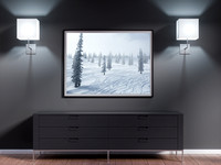 "Aspen Snowmass, 36x48"" mockup. Original Image. Available for purchase."