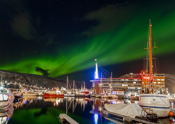 Tromsø, Norway. Northern Lights in the Arctic Circle.